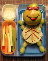 ninja turtle in lunch box