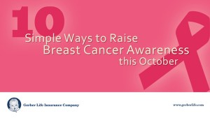 Gerber Life helps raise awareness about breast cancer