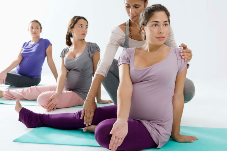 Pregnant Woman in Exercise Class