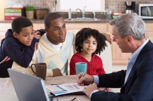 Family Learning About Life Insurance Policies
