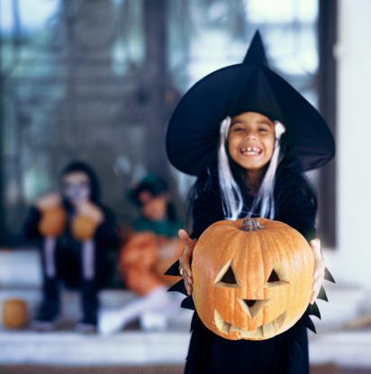 Children Celebrating Halloween