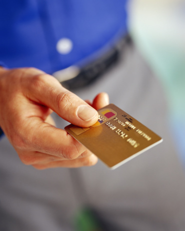 Man Using Credit Card