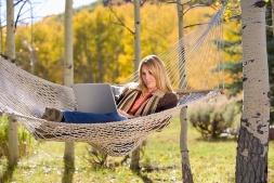 Woman Relaxing Outside