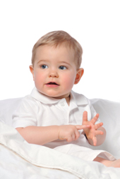 Baby Learning Sign Language