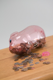 Clear Piggy Bank For Child's Savings