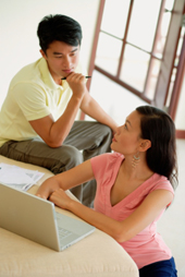 Couple Researching Term Life Insurance