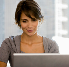 Woman Researching Whole Life Insurance