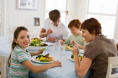 Family Eating Healthy Dinner