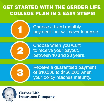 3 steps to get started with the Gerber Life College Plan