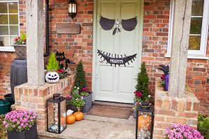 Halloween front door decoration