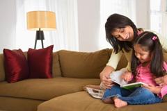 Mom & Daughter Reading