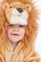 Toddler in Lion Costume