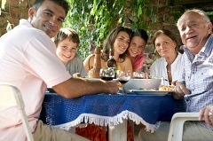 family around table