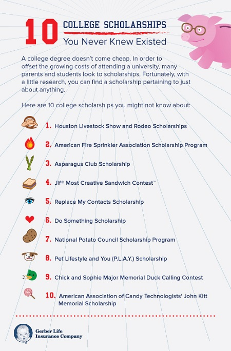 off-the-beaten-path scholarships to help pay for college – infographic