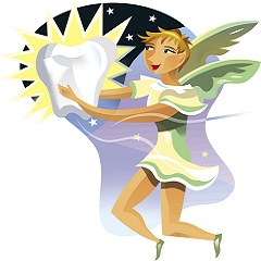 Drawing of a tooth fairy